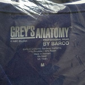 Grey's Anatomy Tops - NWT Grey's Anatomy indigo 3 pocket mock wrap top